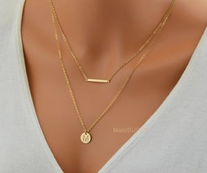 bar, gold bar necklace, and goldbarnecklace image