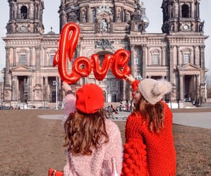 aesthetic, girls, and valentine's image