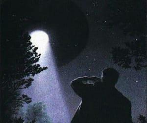 alien, ufo, and stars image