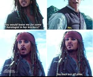 captain jack sparrow, johny depp, and pirates of caribbean image
