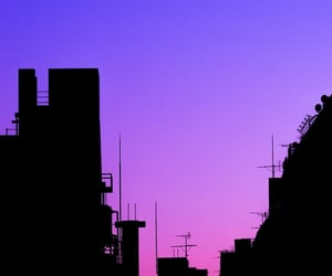 city and purple image