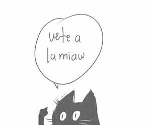 dibujo, gatito, and meme image