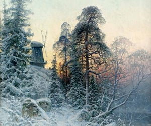 countryside, winter, and slow living image