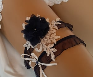 garters, garter set, and ivory garter image