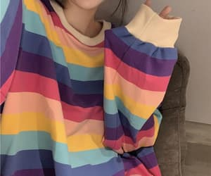 overseas, pullover, and rainbow image
