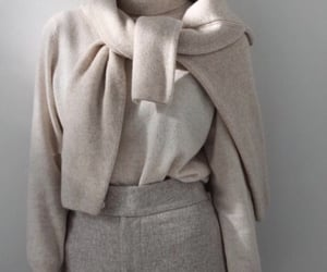 beige, style, and white image