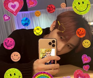 colorful, edit, and changkyun image