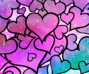 art, glitter, and heart image