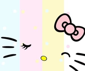 colorful, pastel colors, and hello kitty image