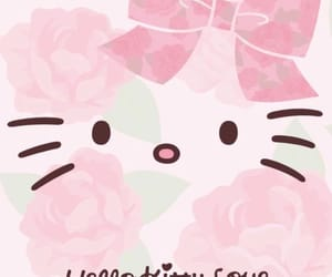 flowers, pastel colors, and hello kitty image