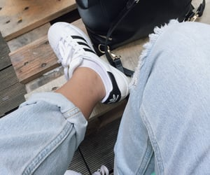 adidas, denim, and jeans image