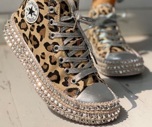 animal print, studs, and fashion image