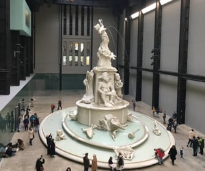 fountain, statue, and london image