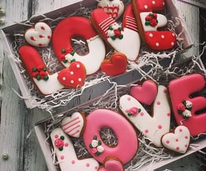 Cookies, valentine, and love image