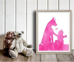 baby boy, nursery decor, and modern pet art image