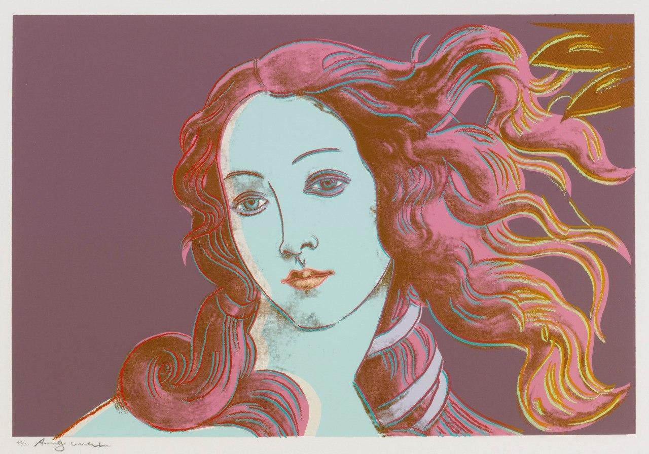 art, Venus, and andy warhol image