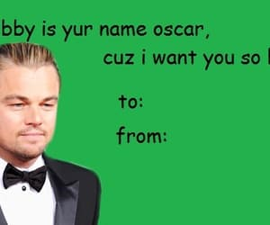 card, leonardo dicaprio, and oscar image