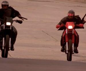 gun, motorcycle, and movie image