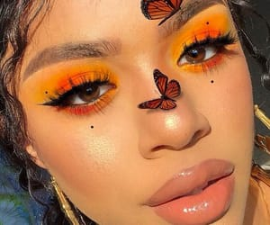 makeup, beauty, and butterfly image