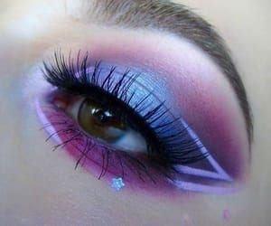 beauty, colorful eyeshadow, and eyelashes image