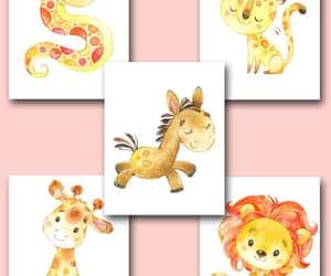 canvas print, horse art, and baby girl nursery image