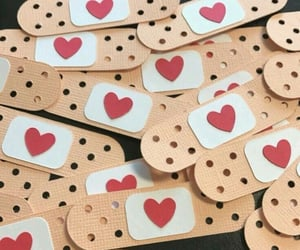 broken heart and Valentine's Day image