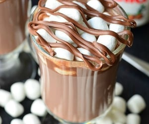 chocolate, nutella, and marshmallow image