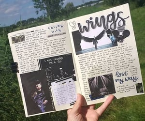 wings, bts, and bullet journal image
