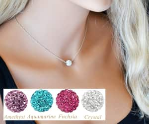 bridal necklace, necklace, and wedding image