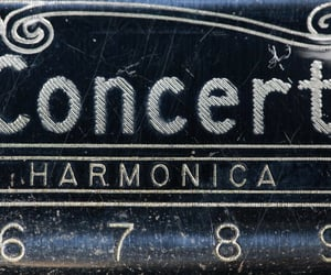 closeup, harmonica, and numbers image