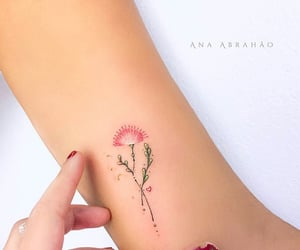 art, pink, and tattoo image