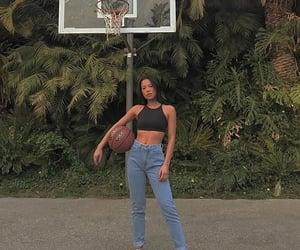 girl and Basketball image
