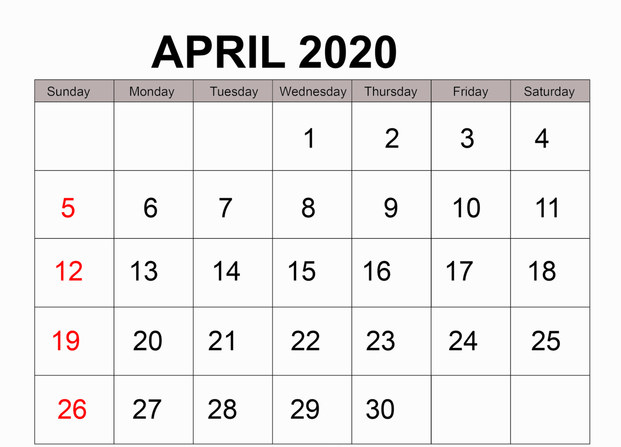 article, freeaprilcalendar, and 2020calendartemplate image
