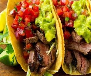 avocado, taco, and salsa image