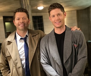 Jensen Ackles, supernatural, and misha collins image