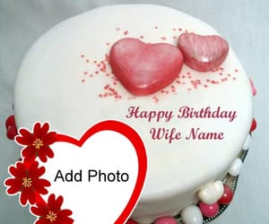 special wishing wife, hbd profile with photos, and new beautiful heart cake image