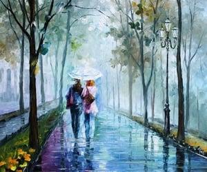 art, couple, and background image