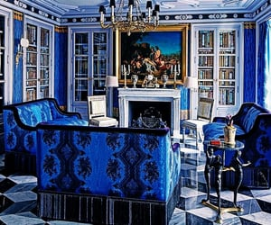 blue, decorating, and interiors image