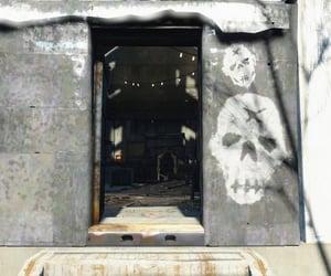 door, post apocalypse, and skull image