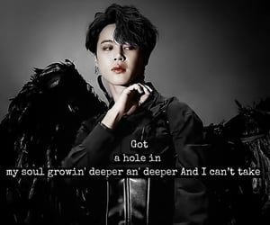 aesthetic, quote, and jimin image