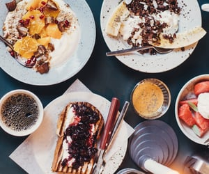 banana split, peanut butter, and breakfast image