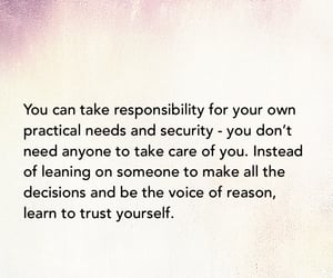 beautiful, yourself, and responsibility image