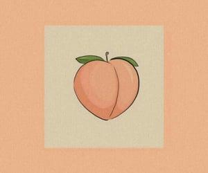 peach, wallpaper, and peachy image