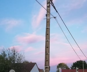 blue, sunset, and cotton candy image