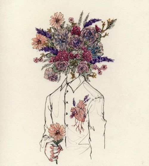 article, flowers, and artistic image
