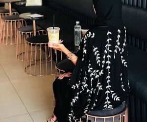 coffee, hijab, and lifestyle image