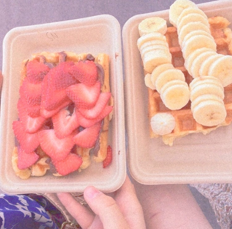 food, carefree, and waffles image