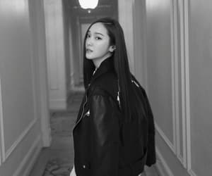 aesthetic, black, and korean girl image