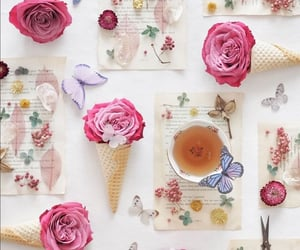 cup of tea, flowers, and roses image