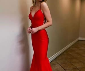 dresses, evening dress, and red prom dress image